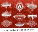 christmas labels and banners...