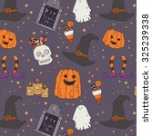 halloween characters and... | Shutterstock .eps vector #325239338