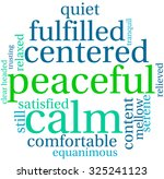 peaceful word cloud on a white... | Shutterstock .eps vector #325241123