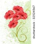 Gerbera Floral Background