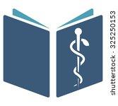 drug handbook glyph icon. style ... | Shutterstock . vector #325250153