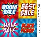 set of pop art comic sale... | Shutterstock .eps vector #325251044