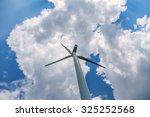 single wind turbine low angle...