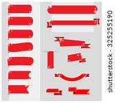 christmas ribbons banner vector | Shutterstock .eps vector #325255190