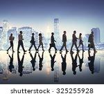 business people walking... | Shutterstock . vector #325255928