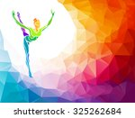 creative silhouette of... | Shutterstock .eps vector #325262684