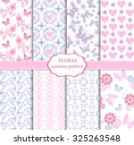 collection of seamless pattern... | Shutterstock .eps vector #325263548