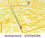street map with gps icons | Shutterstock . vector #325266284