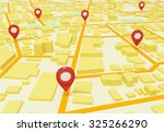 street map with gps icons | Shutterstock . vector #325266290