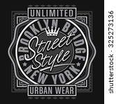 urban style new york typography ...   Shutterstock .eps vector #325273136