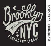 athletic sport new york... | Shutterstock .eps vector #325273508
