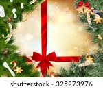 christmas background with... | Shutterstock .eps vector #325273976