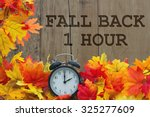 fall time change  autumn leaves ... | Shutterstock . vector #325277609