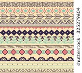 aztec tribal pattern in stripes ... | Shutterstock .eps vector #325279604