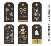 vintage christmas gift tags | Shutterstock .eps vector #325282709