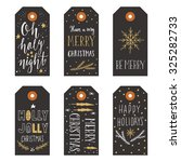 vintage christmas gift tags | Shutterstock .eps vector #325282733