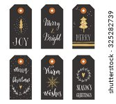 vintage christmas gift tags | Shutterstock .eps vector #325282739