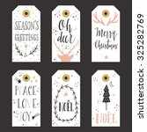 vintage christmas gift tags | Shutterstock .eps vector #325282769