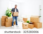 moving to a new apartment.... | Shutterstock . vector #325283006