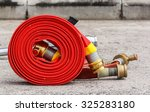 fire equipment extinguishers... | Shutterstock . vector #325283180