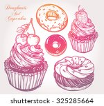 bakery and dessert pastry icons ...   Shutterstock .eps vector #325285664