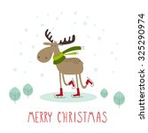 greeting card  merry christmas. ... | Shutterstock .eps vector #325290974