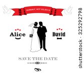 save the date. vintage wedding... | Shutterstock .eps vector #325292798