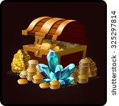 chest  illustration icon game... | Shutterstock .eps vector #325297814