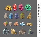 Set Of Magic Crystals  Stones ...