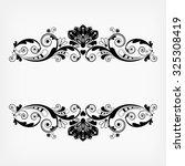 vector vintage floral ...   Shutterstock .eps vector #325308419