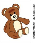 braun cuddle bear isolated on a ... | Shutterstock . vector #325308830