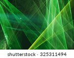 Abstract Colourful Green Laser...