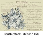 postcard from germany with the... | Shutterstock .eps vector #325314158
