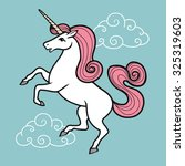 cartoon vector unicorn with...   Shutterstock .eps vector #325319603
