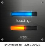 vector progress loading bar.   Shutterstock .eps vector #325320428