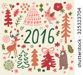awesome 2016 holiday set in... | Shutterstock .eps vector #325323704