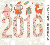 lovely happy new year and merry ... | Shutterstock .eps vector #325324478