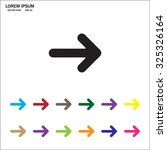 pictograph of arrow | Shutterstock .eps vector #325326164