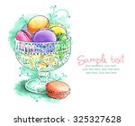 card with painted watercolor... | Shutterstock . vector #325327628