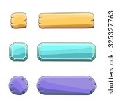 vector set of stone game round...