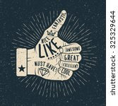 like hand. vintage styled... | Shutterstock .eps vector #325329644
