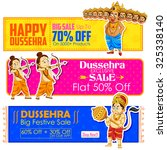 illustration of happy dussehra... | Shutterstock .eps vector #325338140