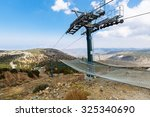 Ski Lifts Summer. Cable Car...