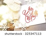 festive light on card with... | Shutterstock . vector #325347113