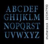 blue vintage vector font. | Shutterstock .eps vector #325347950