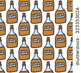 bottle of rum. seamless pattern ... | Shutterstock .eps vector #325353026