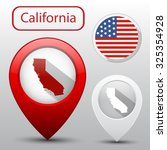 set of california state with... | Shutterstock . vector #325354928