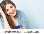 face portrait of smiling woman. ... | Shutterstock . vector #325360688