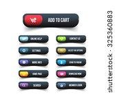 black website buttons design