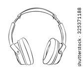 vector hand drawn sketch of... | Shutterstock .eps vector #325371188